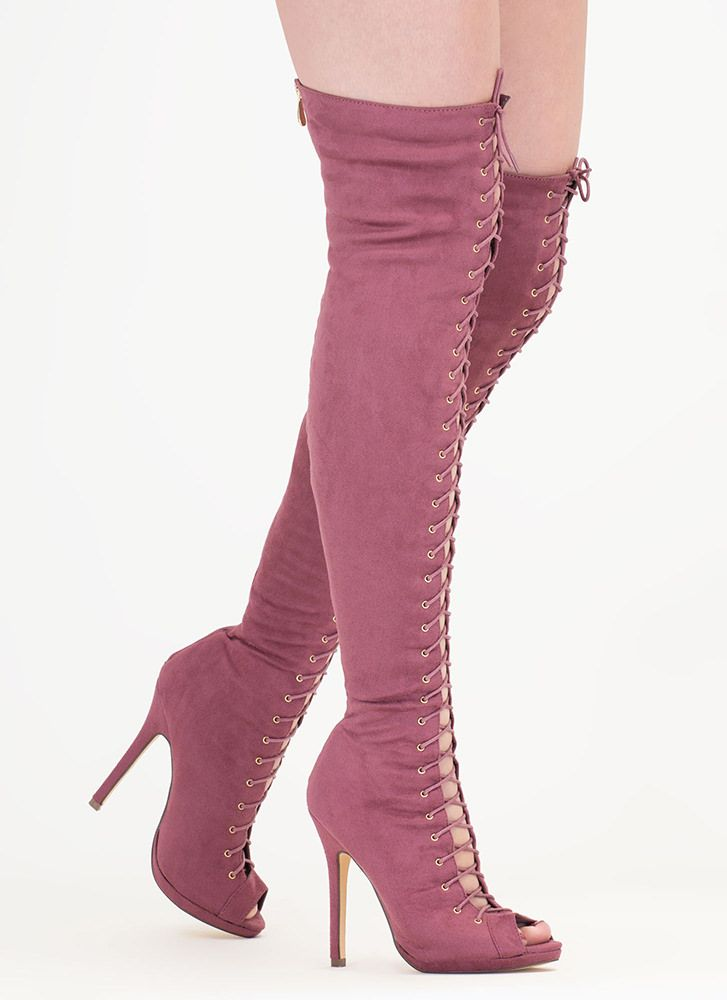 9c8645a2353 Revamp Faux Suede Over-The-Knee Boots | shoes | Boots, Over the knee ...