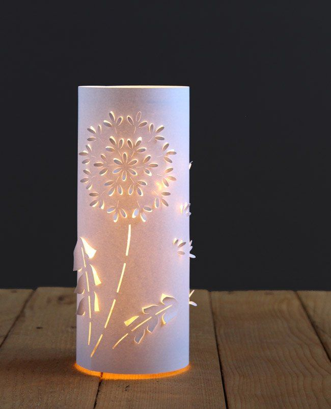 dandelion lanterns from up cycled plastic bottles