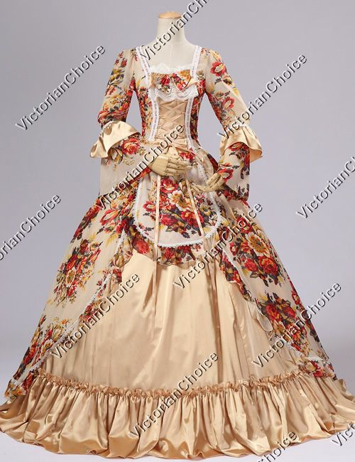 Renaissance Victorian Chiffon Dress Ball Gown Lolita Reenactment ...