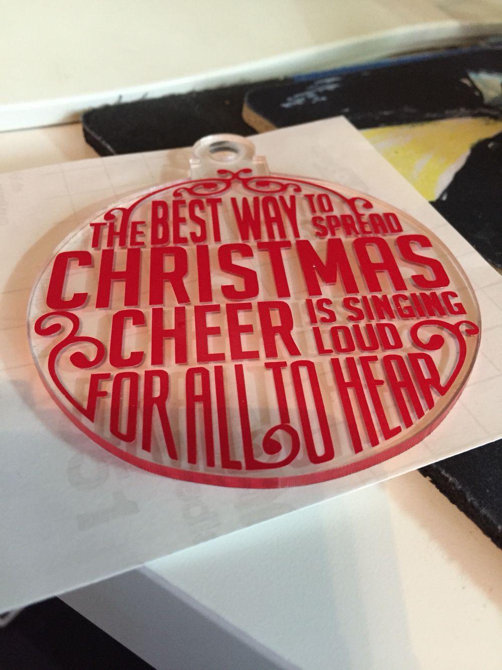 Large Acrylic And Vinyl Ornament Christmas Vinyl Projects Christmas Vinyl Vinyl Ornaments