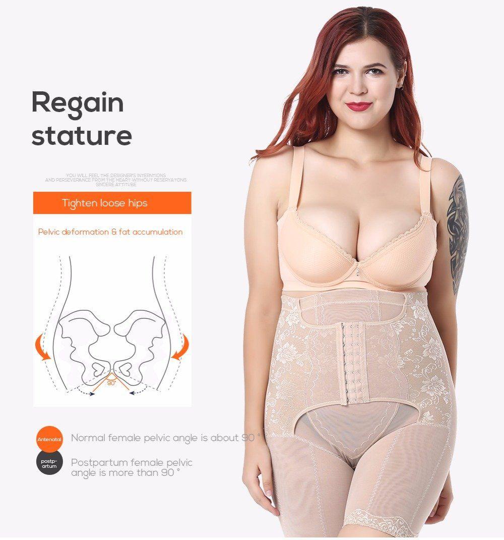 932c79062cf Plus Size Waist Trainer Corset Slimming Belt Body Shaper Control Pants  Slimming Corset Shapewear For Women