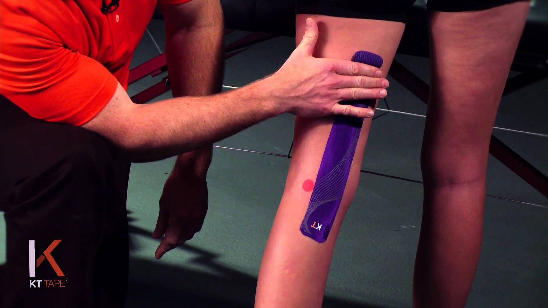 Kt Tape Back Of Knee Hamstring Tendon Curve Appeal Pinterest