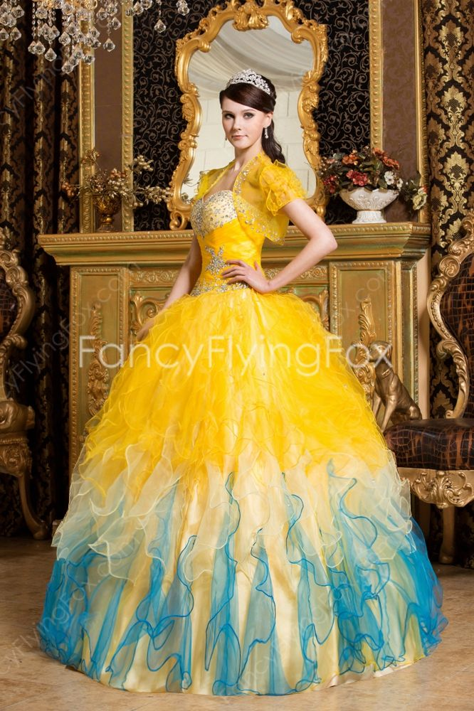 a927aa4bb Extraordinary Colorful Ball Gown Quinceanera Dresses With Sheer Short  Sleeves Jacket at fancyflyingfox.com