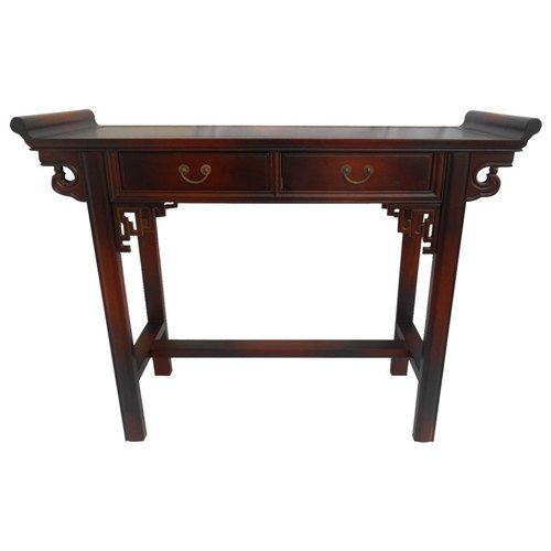 Asian Wing Top Table With Key Carving And Two Drawers Wings Sofas