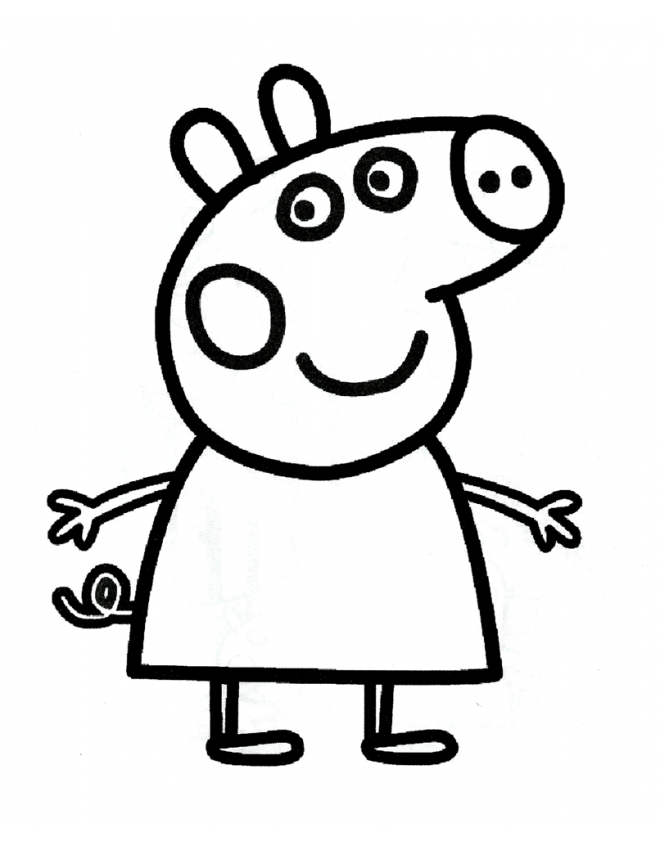 Peppa Pig Free Coloring Pages