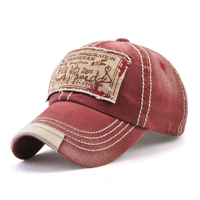 ed1084859b4 Men Women Washed Cotton Baseball Cap Casual Sport Patch Printing Snapback  Visor Hat Adjustable