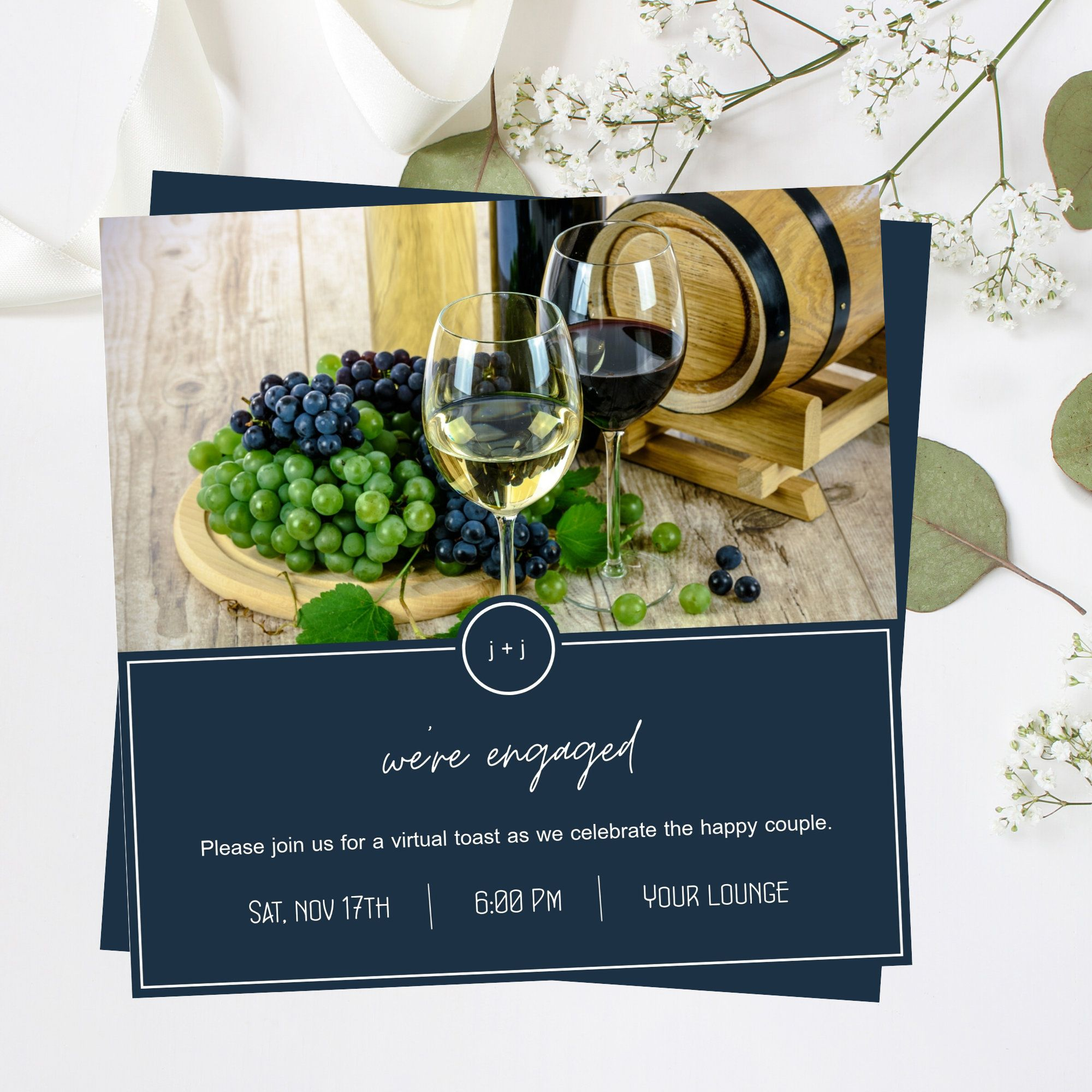 Pin on Virtual Party Invitations by Leshay Design