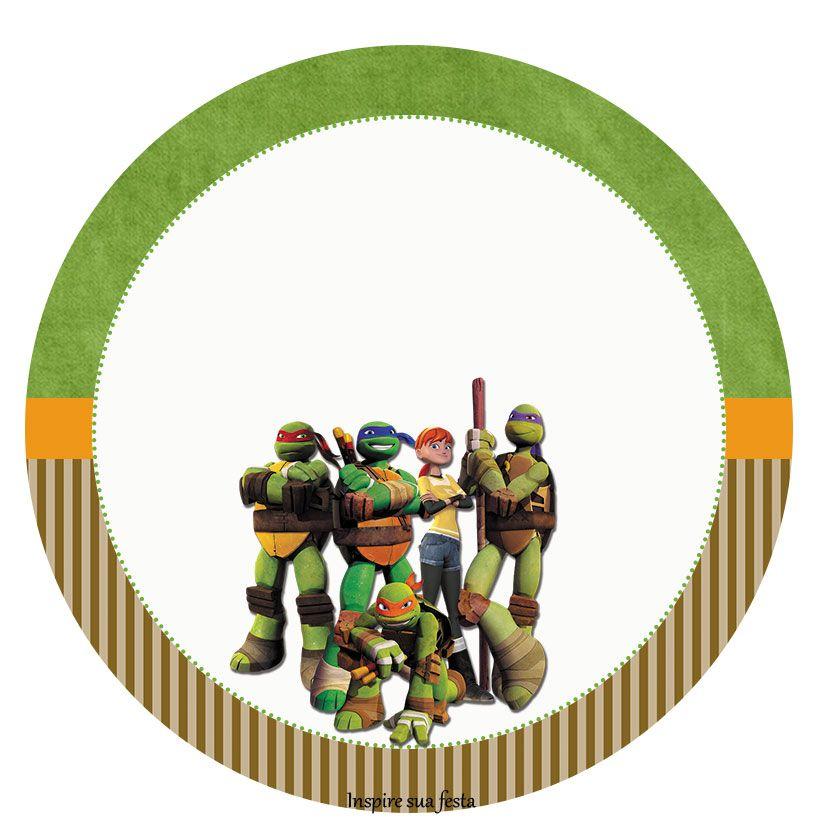 Toppers o Etiquetas de Tortugas Ninja para Imprimir Gratis. | cumple ...