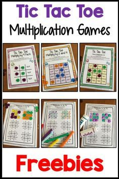 multiplication free multiplication facts tic tac toe multiplication  freebies  facts tic tac toe math games freebie from games  learning  combines the fun of tic tac toe and with practice of basic multiplication  facts