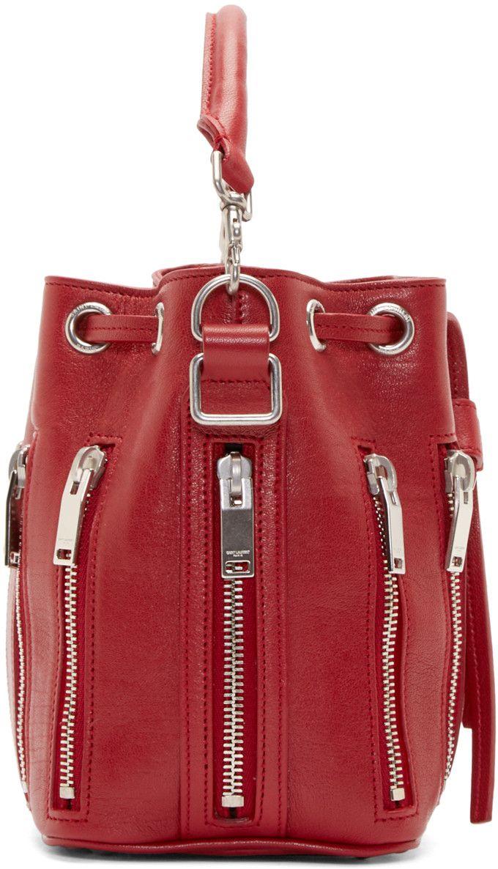 ed55e9589191 Saint Laurent Red Small Emmanuelle Bucket Bag