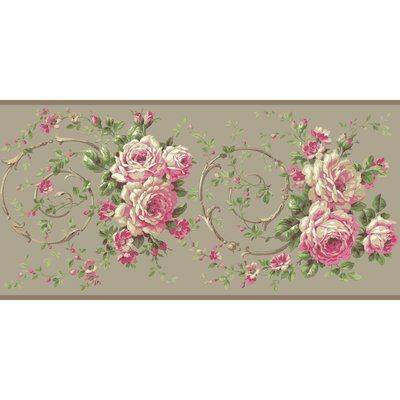 York Wallcoverings Casabella II Rose Floral and Botanical