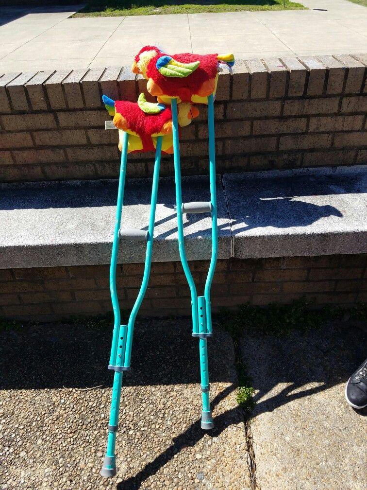 spray paint pillow pet diy crutches