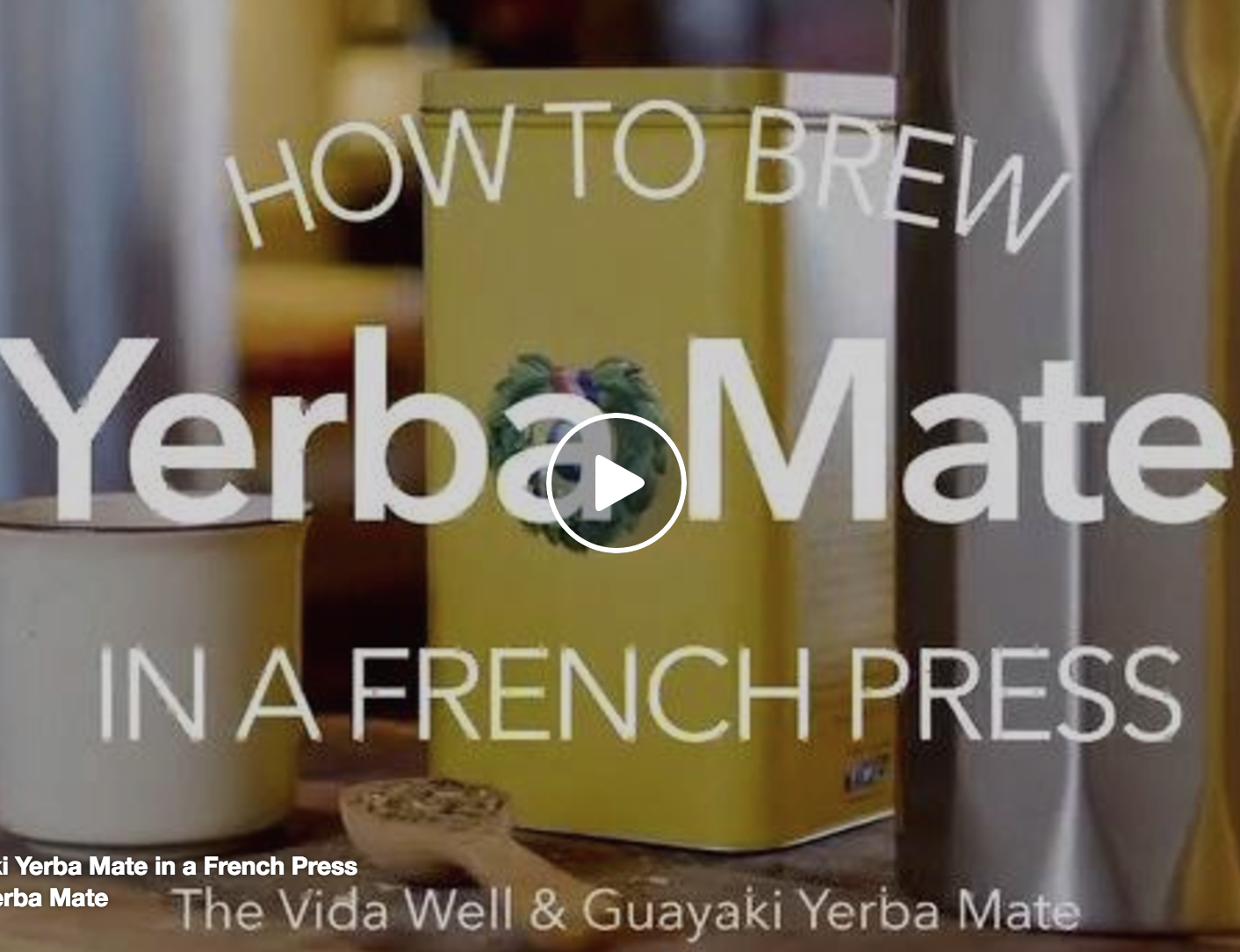 How to brew Yerba Mate in a French Press