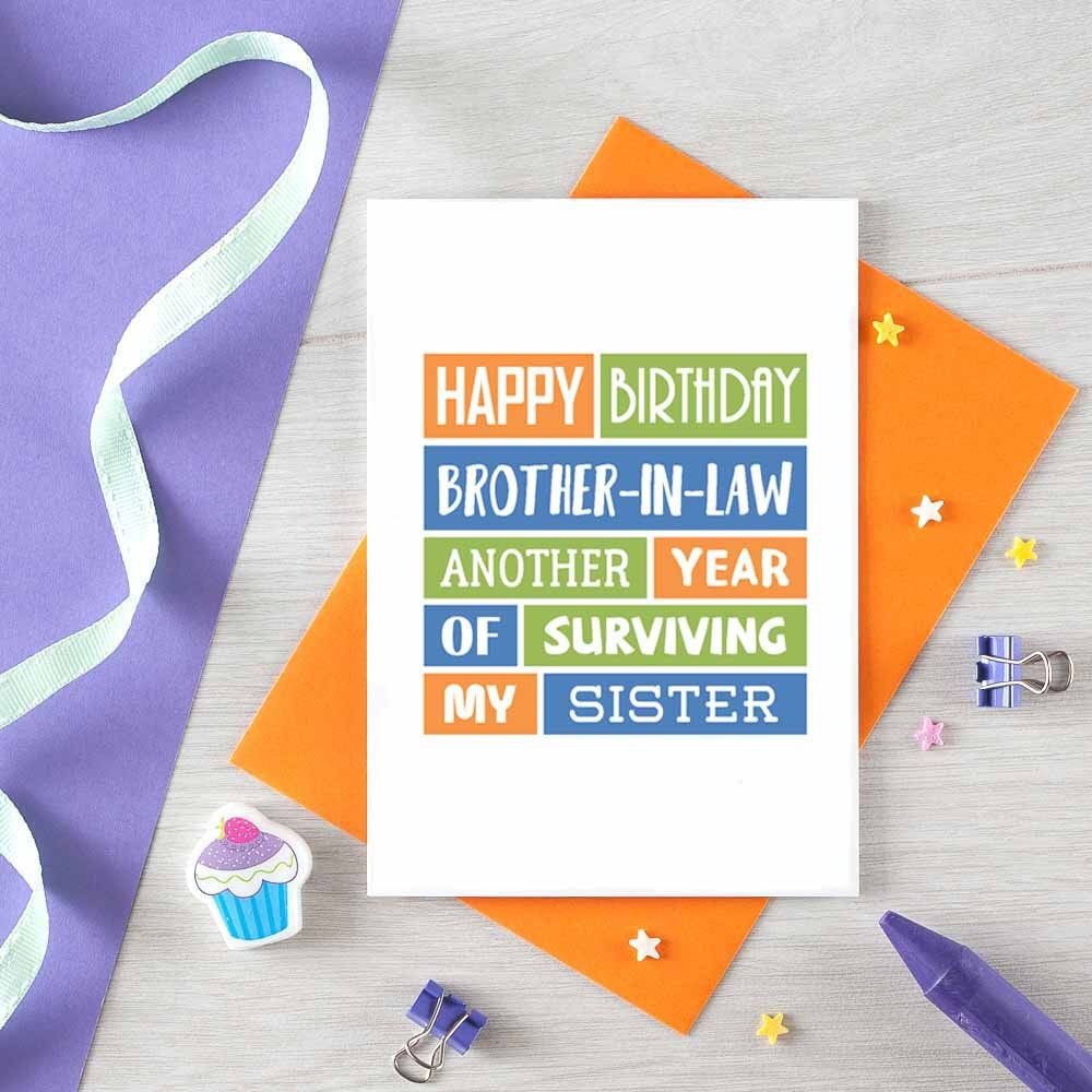 Funny Birthday Card For Brother In Law Happy Birthday Etsy Birthday Cards For Brother Funny Birthday Cards Birthday Cards Funny Friend