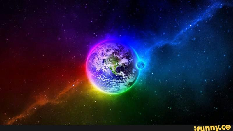 Wallpaper Rainbow Space Google Search In 2020 Planets