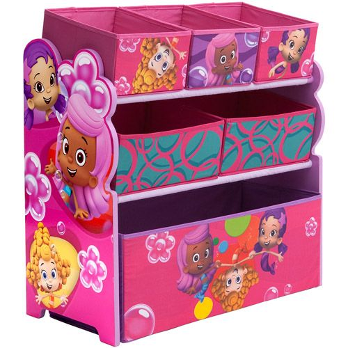 Merveilleux Delta Nickelodeon Bubble Guppies Multi Bin Toy Organizer, Pink: Kidsu0027 U0026 Teen