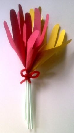 Hand Flower Mother S Day Make It Take It With Images Mothers
