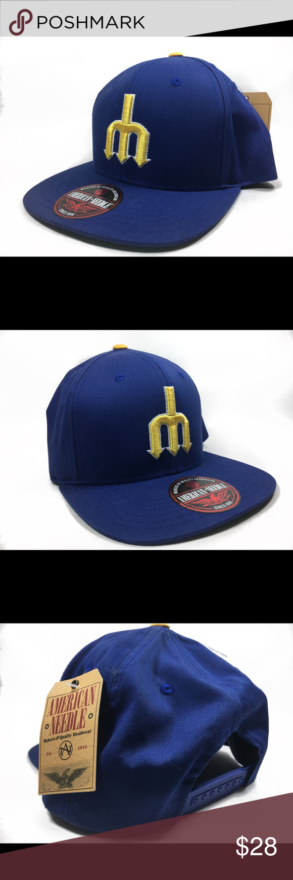 76536ae0 American Needle Vtg Seattle Mariners Snapback Hat New with tags American  Needle Accessories Hats