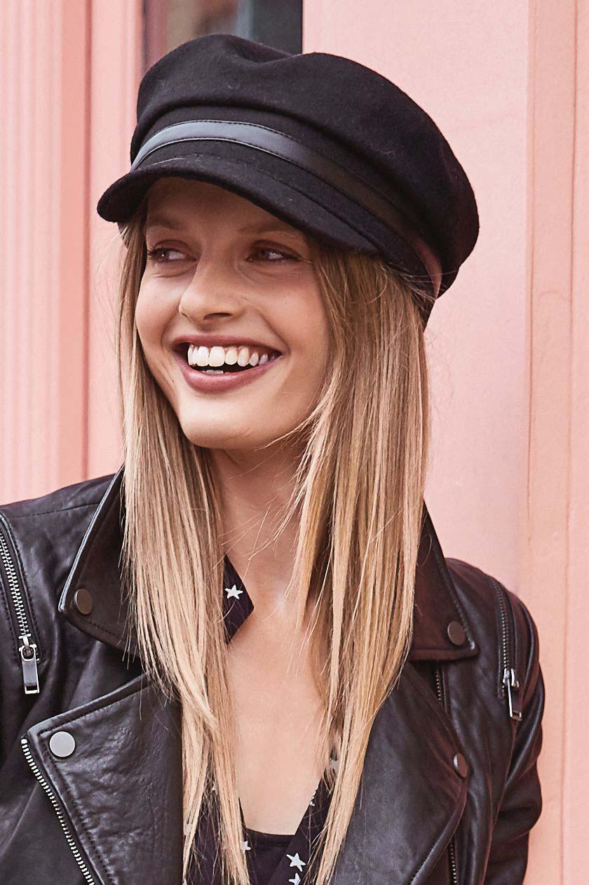 25613ce2e9349 Womens Mint Velvet Black Baker Boy Hat - Black