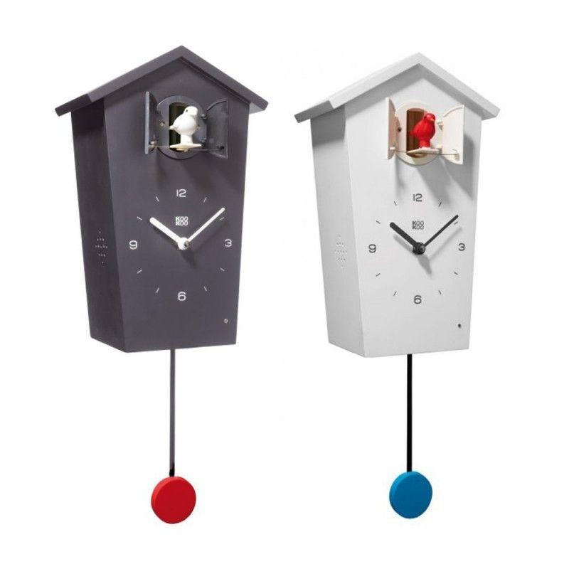 KooKoo BirdHouse Modern Cuckoo Clock with Pendulums