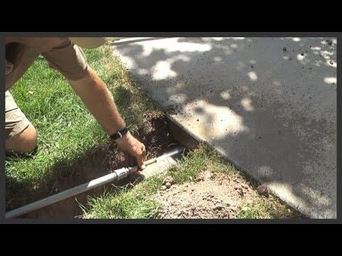 How To Install A Sprinkler Pipe Conduit Under A Sidewalk