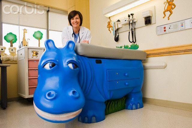 Pediatric Design Doctor In Pediatric Examination Room