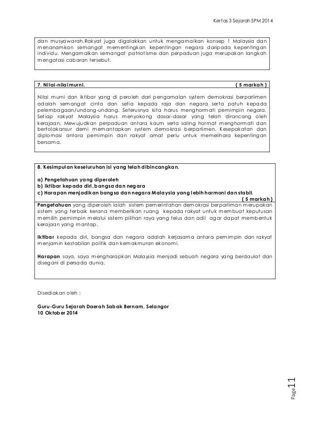 Soalan Jawapan Kertas 3 Sejarah Spm 2014 School Work School Exam