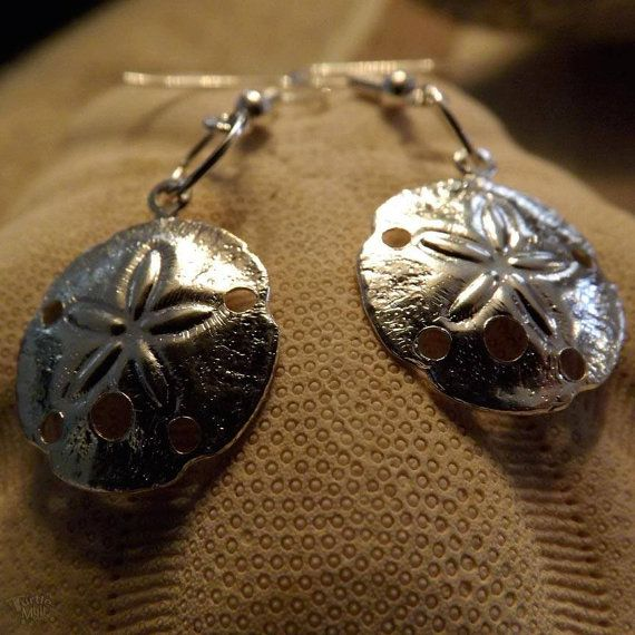Sand Dollar Earrings by DebWiseCreations on Etsy, $5.99 SOLD