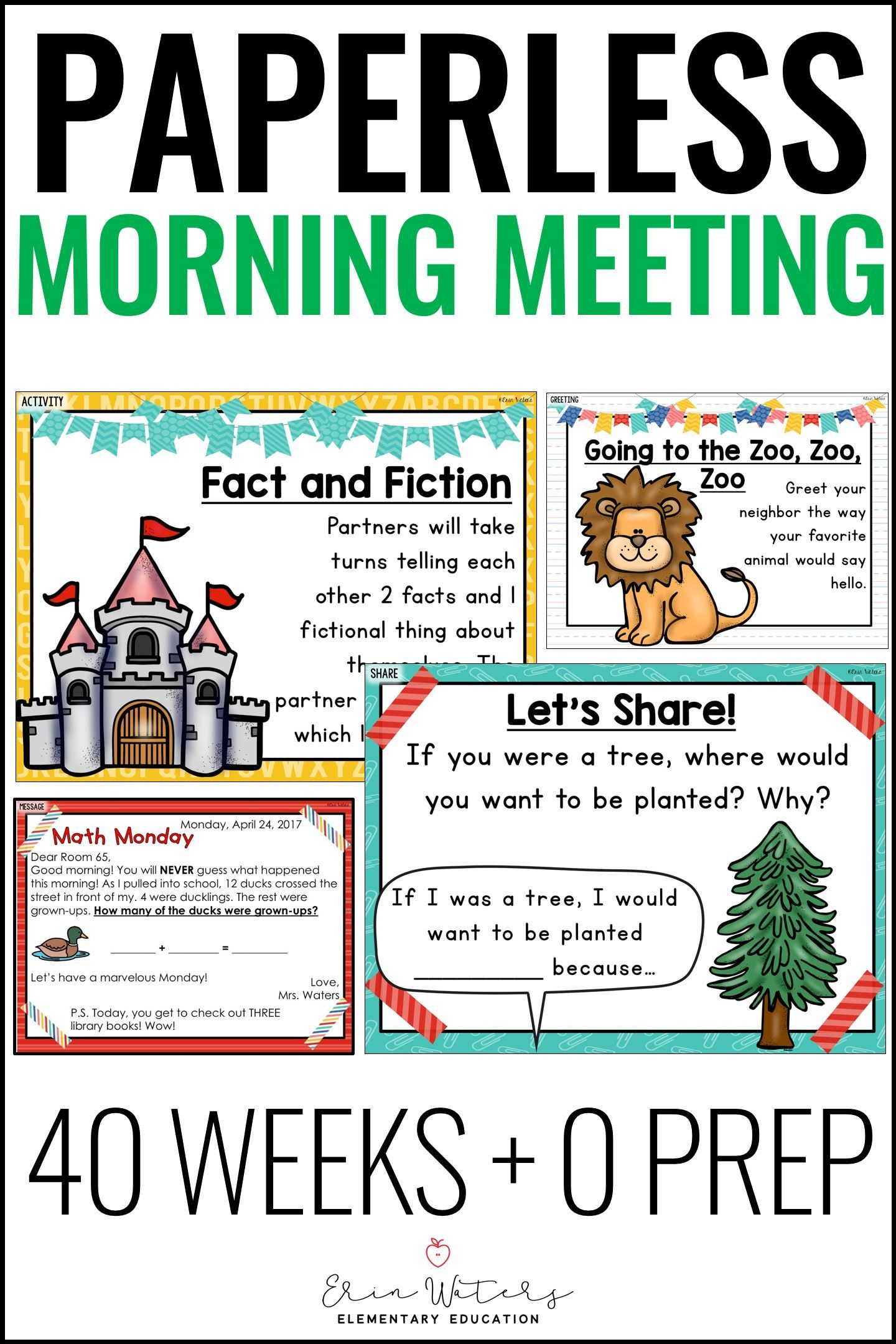 Morning Meeting Slides | Morning Meeting Activities , Greetings, Share, + More #morningroutine