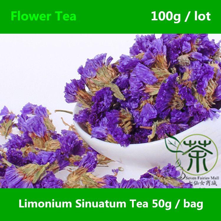 $15.98 (Buy here: http://appdeal.ru/a4vw ) Limonium Sinuatum Flower Tea Enhance Immunity 100g, Very Popular Forget Me Not Buds, Myosotis Sylvatica Scented Tea Nourish Skin for just $15.98