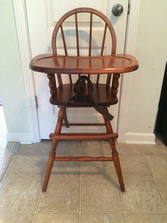 Vintage Wooden High Chair, Jenny Lind, Antique High Chair, Vintage High  Chair, - Vintage Wooden High Chair, Jenny Lind, Antique High Chair, Vintage