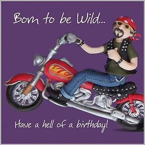 Funny birthday cards for men with motorcycles mens boys fun mens boys fun birthday card harley davidson style motorbike born to be wild esb bookmarktalkfo Image collections
