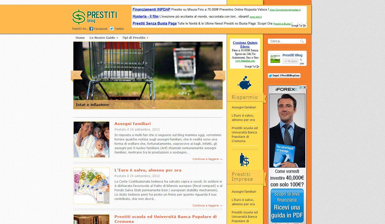 il blog sulle migliori tecniche di risparmio e prestiti del network Fair Magazine    www.prestitiblog.com