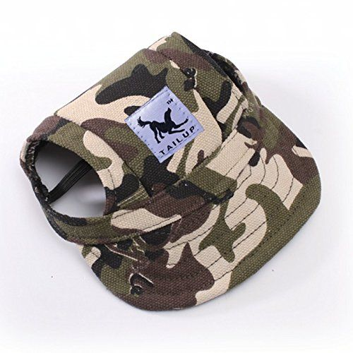 Cats Food - Happy Hours - Small Pet Dog Cat Baseball Visor Sports Hat Cap  Puppy Summer Baseball Outdoor Ear Holes Sunbonnet Outfit Elastic Leather  Neck ... 6c3eb7b611d8