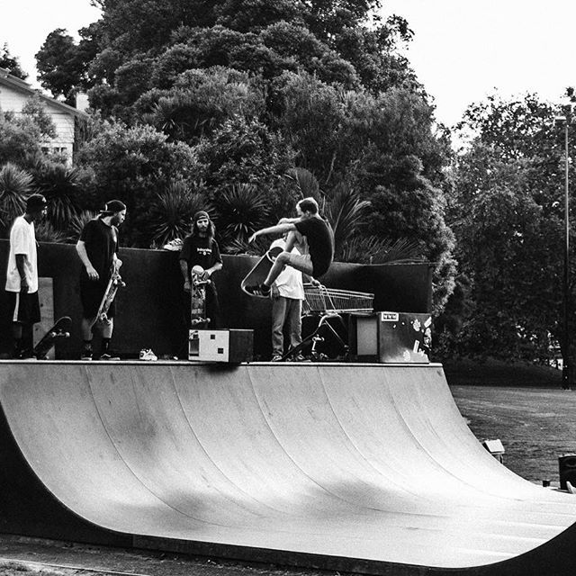 Cheers to all the peeps who came out and made it a sick jam!    Full clip will be dropping soon.    @starkymarts | Fs Ollie over the microwave.