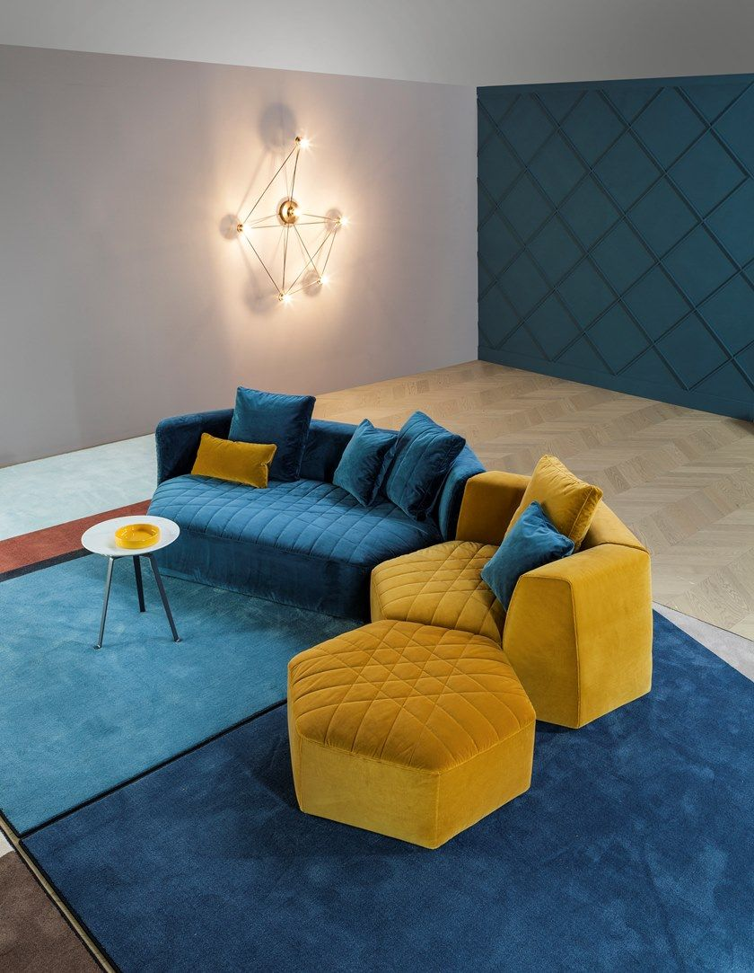 Modular Fabric Sofa With Footstool Panorama Sofa With Footstool By Bonaldo Couches Living Room Sofa Design Minimalist Living Room Design
