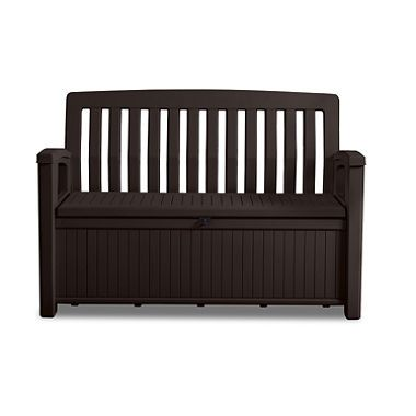 Keter 60 Gallon All Weather Outdoor Patio Storage Bench Patio