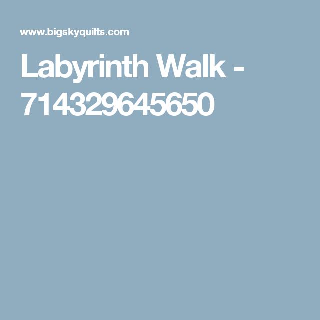 Labyrinth Walk - 714329645650