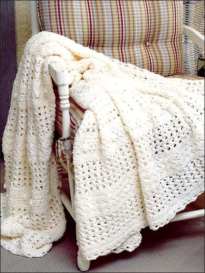 Summer Lace Afghan Crocheted With Sport Weight Yarn