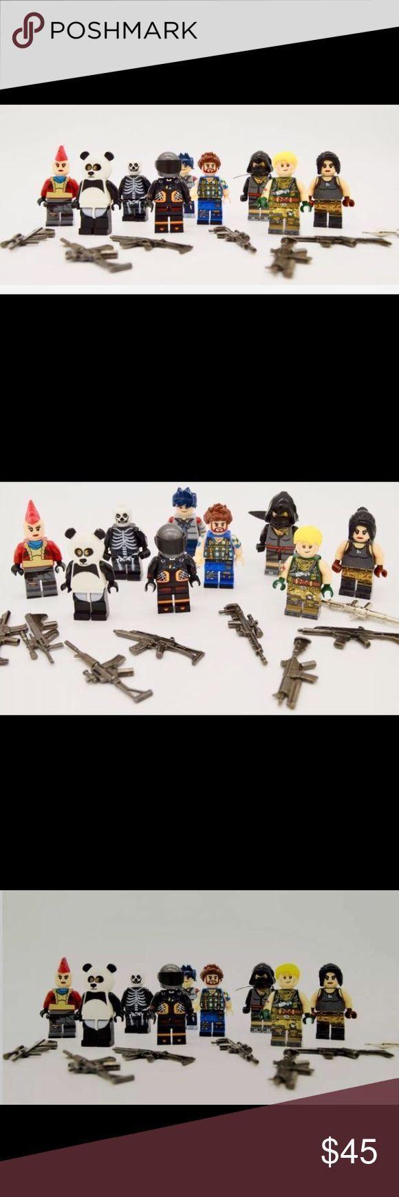 Fortnite LEGO Actionfiguren Set mit 8 LEGO Fortnite Actionfiguren! Mit METAL G ….