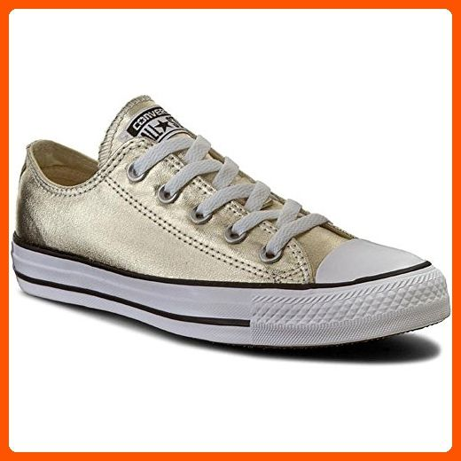 55fa4e8397a5c1 Unisex Chuck Taylor All Star Ox Low Top Classic Optical White Light Gold  White