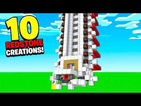 10 REDSTONE CREATIONS YOU CAN BUILD! (ELEVATOR, SECRET