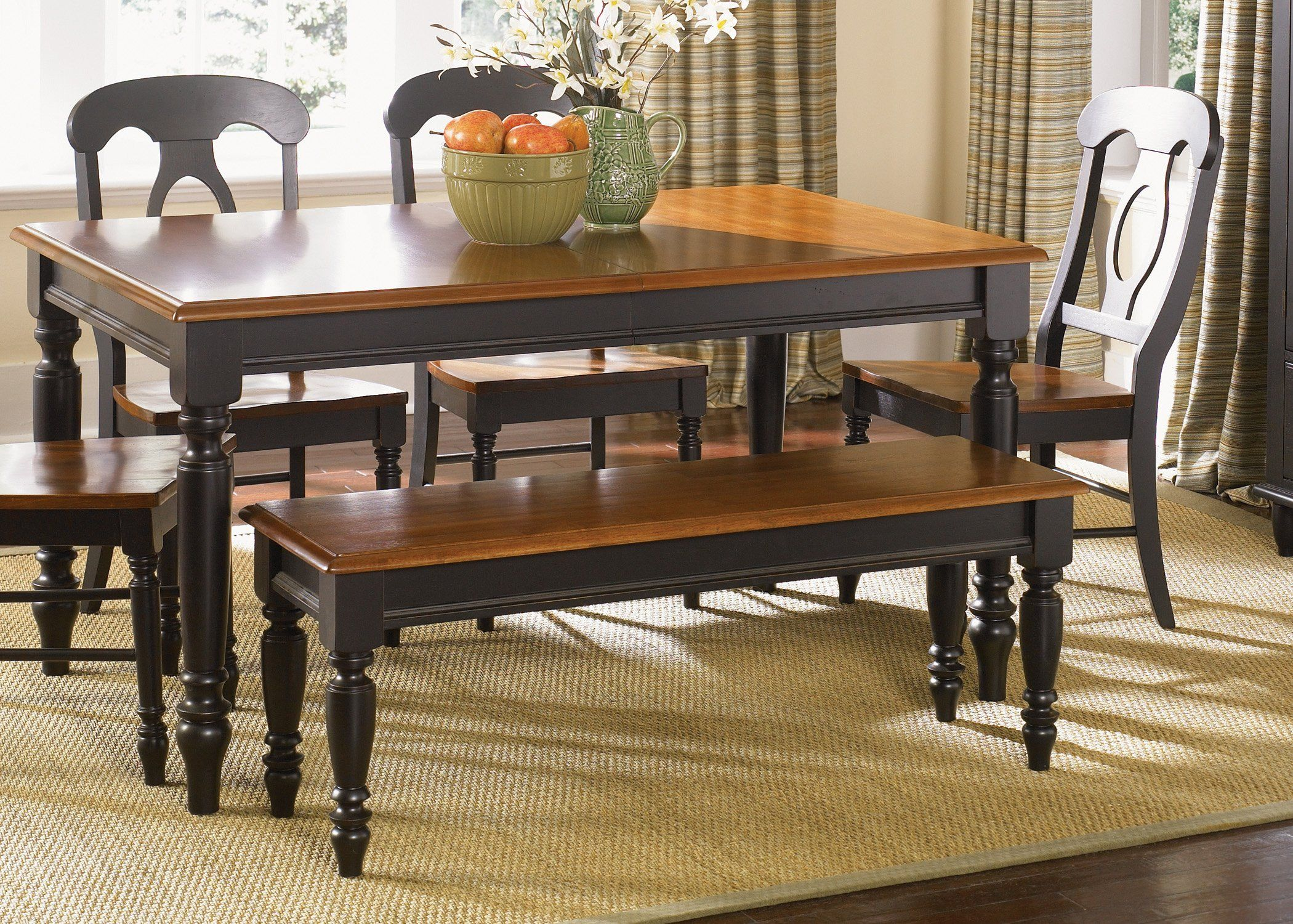 Liberty Furniture Low Country Black 6 pc. Dining Set with Napoleon ...