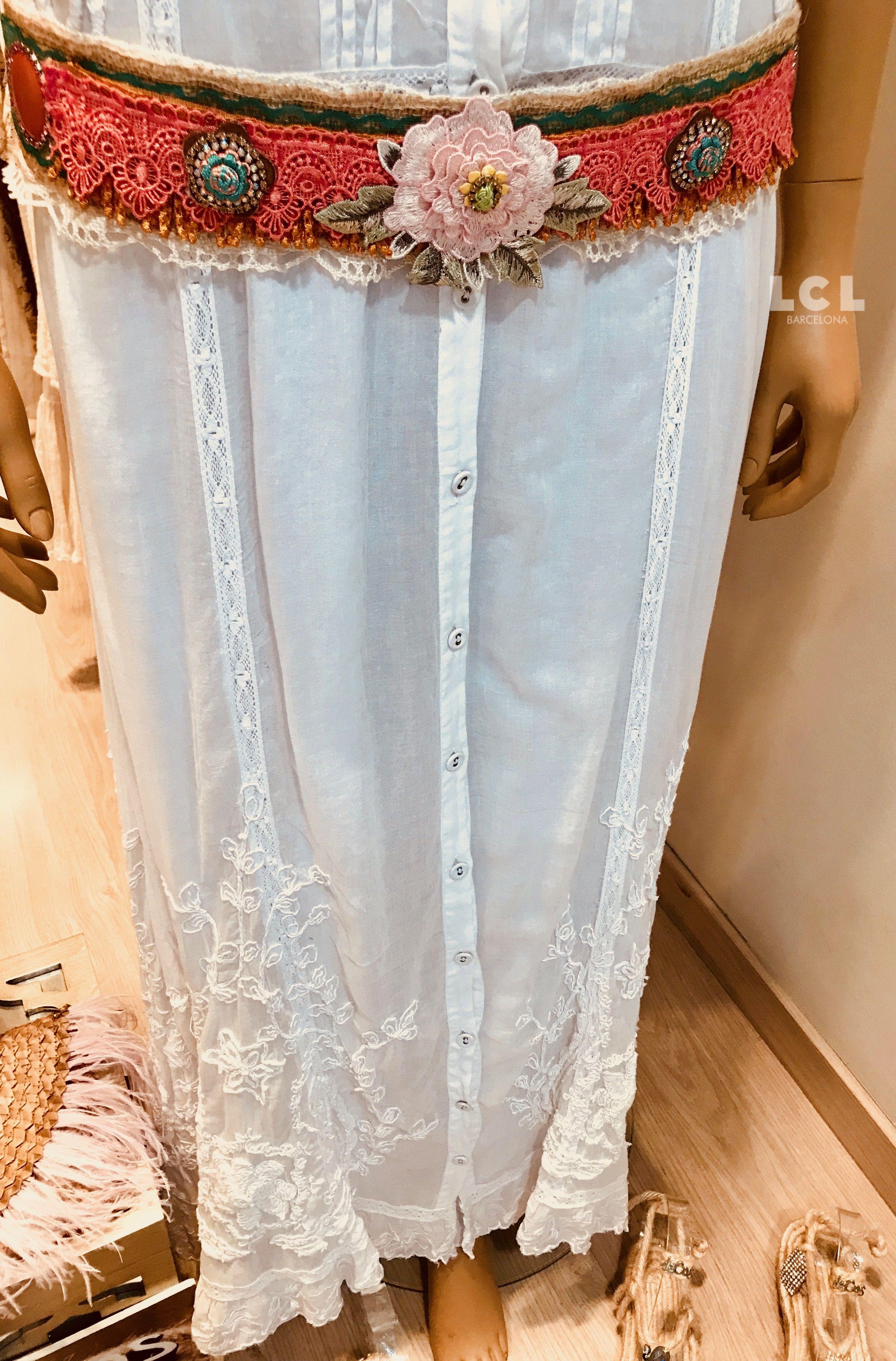 Vestido colección novias Piluca Bayarri Ibiza con complementos de ...
