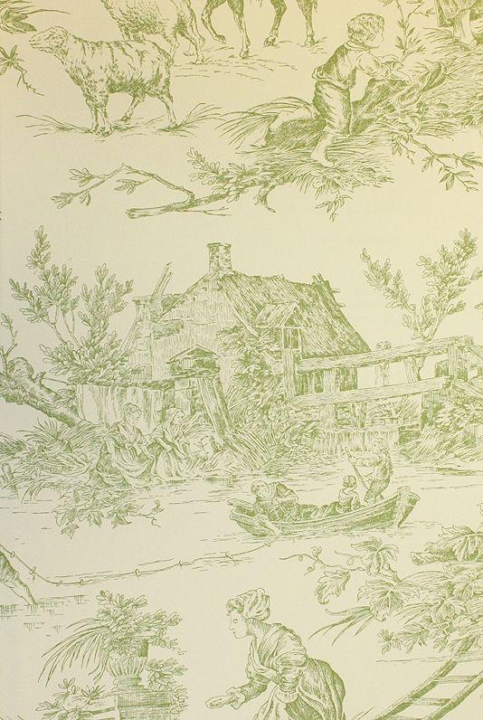 chateau de loir toile wallpaper pastoral scenic toile de