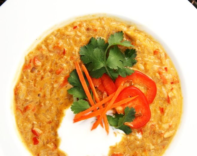 how to cook red curry soup