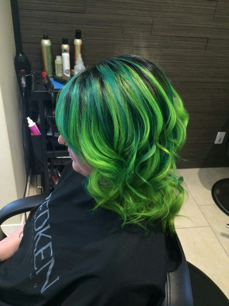 My Shamrock Green Hair Color Green Hair Hair Color Hair