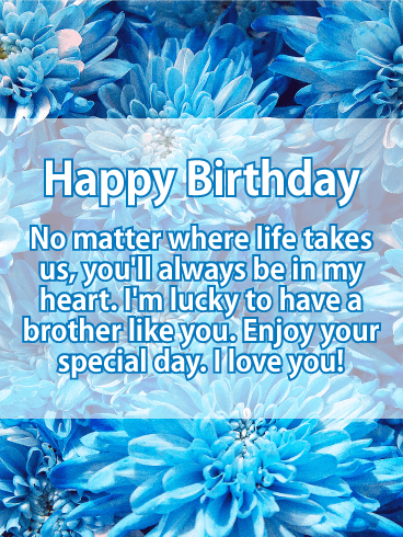 Blue Flower Happy Birthday Card For Brother Maybe Youre Looking To