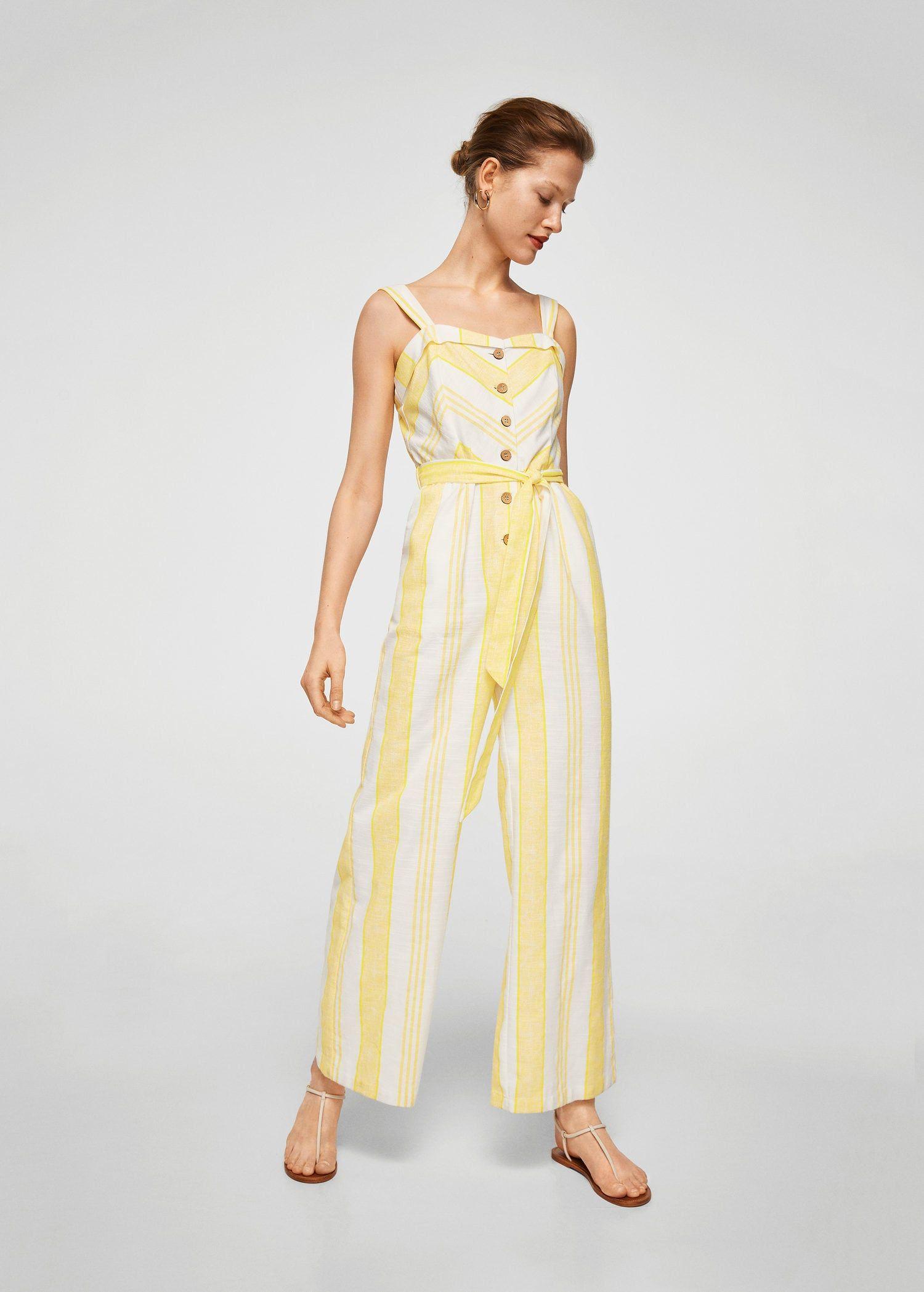 5f9f3a87cc Striped cotton jumpsuit - Women
