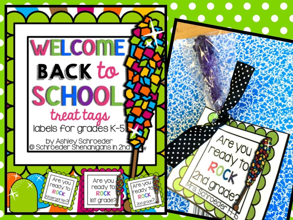 Welcome Back to School treat tags for K-5 | Back to School